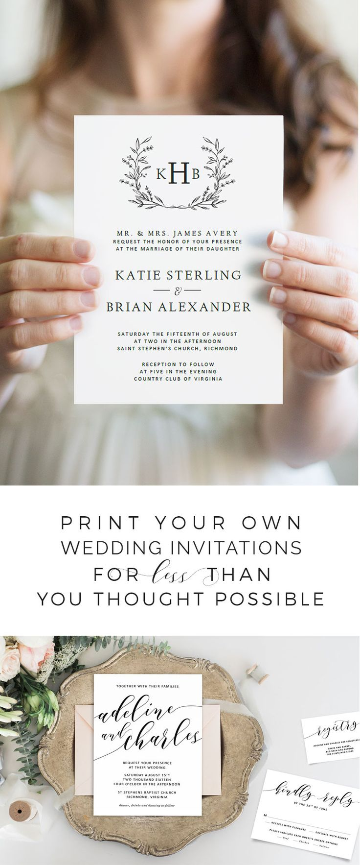 25 best ideas about printable wedding invitations on pinterest