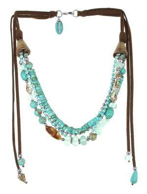 leather, turquoise, multi-strand
