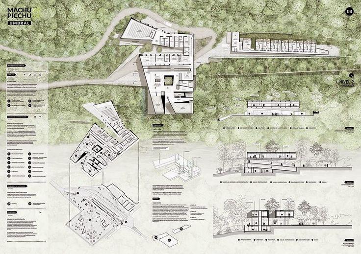Bitácora Arquitectura Peruana: Tercer Lugar. Rodolfo Cortegana Morgan. Concurso de Ideas de Arquitectura para las intervenciones en el Parque Arqueológico Nacional de Machupicchu. Ministerio de Cultura.