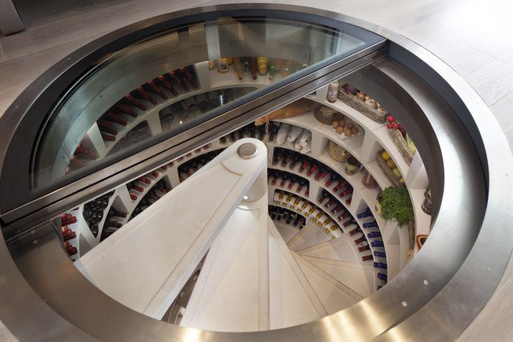 A spiral wine cellar. - Imgur