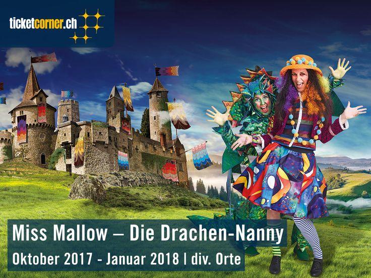 «Miss Mallow – Die Drachen-Nanny», das neue Stück von Andrew Bonds MärliMusicalTheater, tourt ab Oktober 2017 durch die Schweiz. Mit Farbe, Feuer und Fantasie begeistert das Stück Gross und Klein. Während sieben Monaten spielt die neue Kreation des bekannten Kinderliedermachers an über 45 Spielorten.