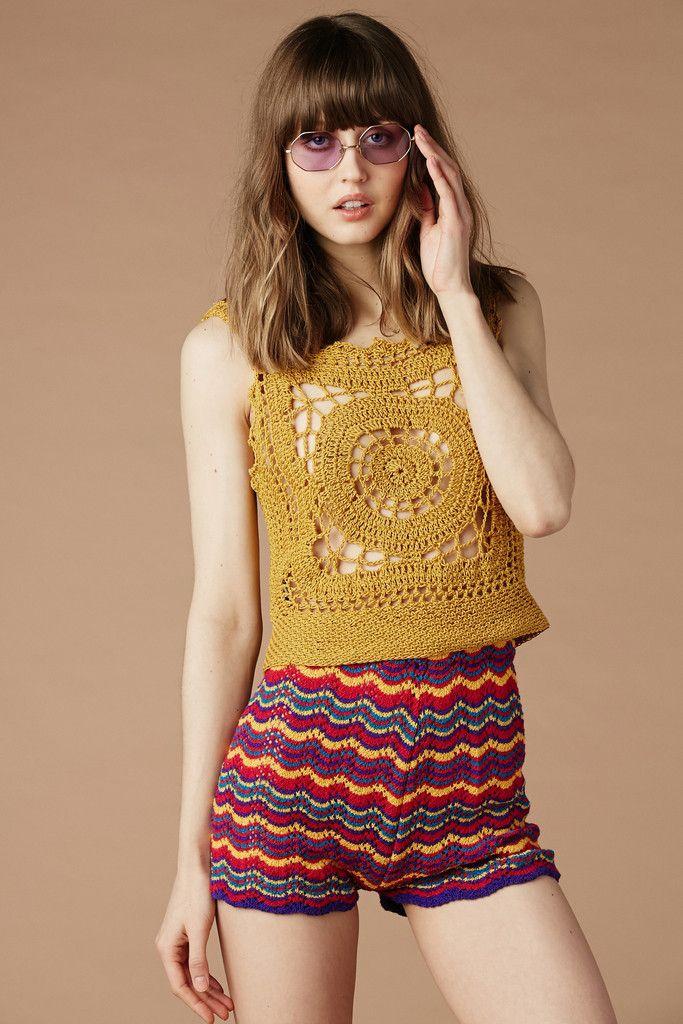 Taxi Driver Crochet Shorts