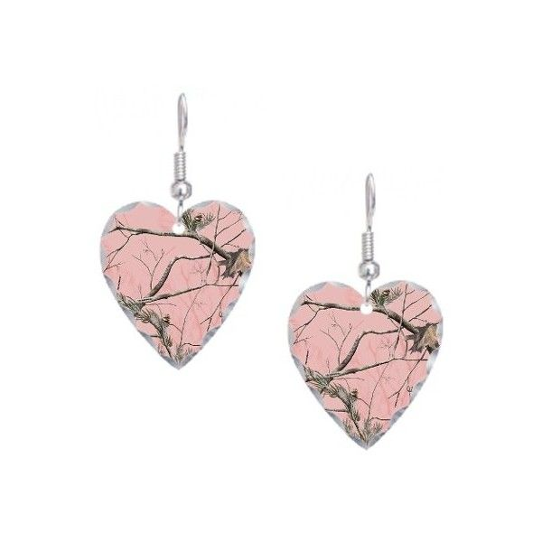 Realtree Pink Camo Earring ($25) ❤ liked on Polyvore featuring jewelry, earrings, realtree, pink earrings, camouflage jewelry, camo jewelry and camo earrings