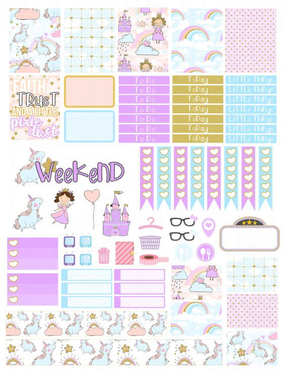 This is a set of printable stickers. The stickers are sized to fit the Erin Condren Vertical Life Planner boxes (1.5 in by 1.9 in) but will also fit