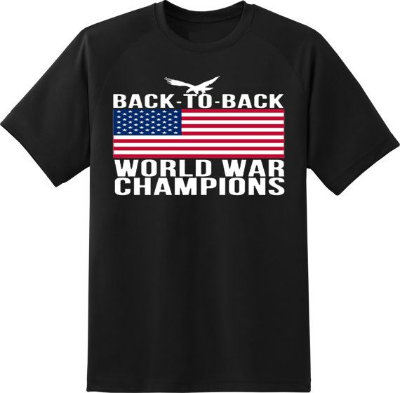 merican flag back to back world war champions  by ElegantPuss, $17.00