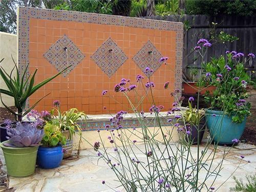 Custom Wall Fountain  Fountain and Garden Pond  Amelia B. Lima & Associates  San Diego, CA
