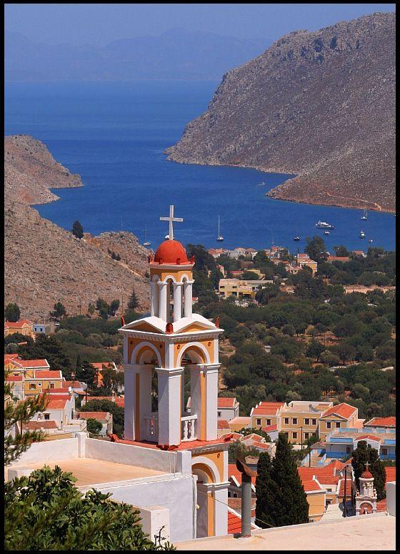 View to Padi Gulf - Symi, Greece