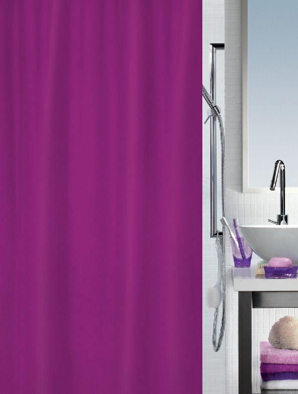 Spirella Primo Berry Shower Curtain Bathroom Purple