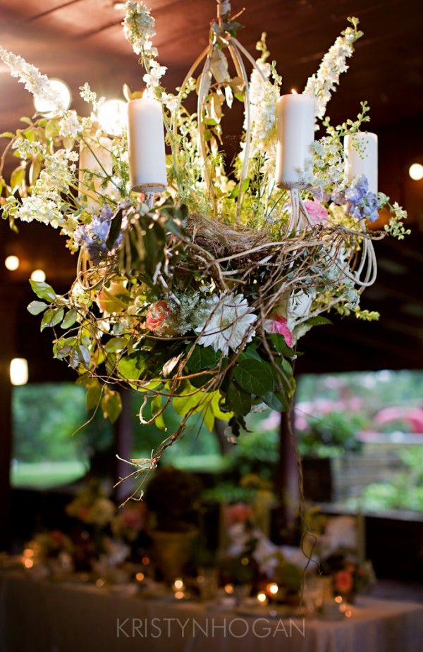 Flower & Candle Chandelier