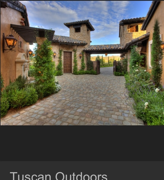 Tuscan House Style With Front Walkway And Italian Cypress: 1877 Best Images About CourtYard On Pinterest