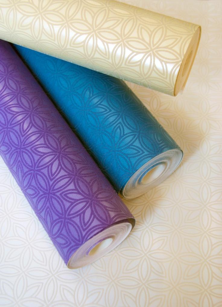 Moroccan Trellis - A modern, trend focused geometric trellis, coloured in a vibrant, punchy colour palette.
