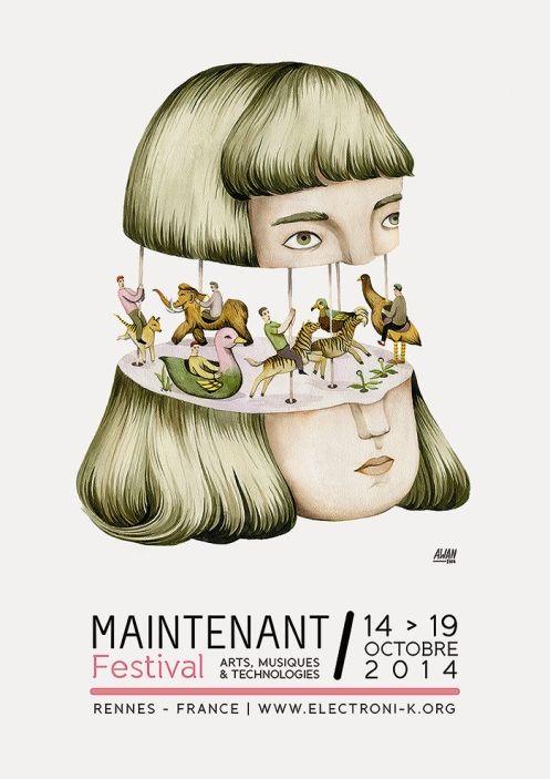 Maintenant Festival 2014, Arts, Musiques et Technologies, Rennes (illustration : Andrea Wan)