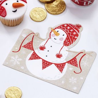 Use our adorable Christmas Snowman Napkins to catch those crumbs during the festive period! Sure to be loved by family and friends of all ages.