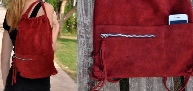Leather bags by Cache