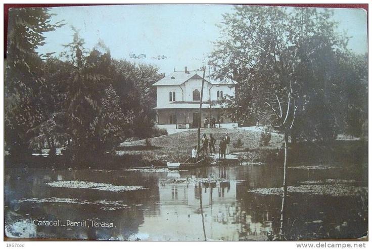 CARACAL -  Parcul si Terasa - 1929