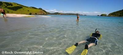The Rock Overnight Cruise - Bay of Islands from $404-490 for 2 in a Double Cabin