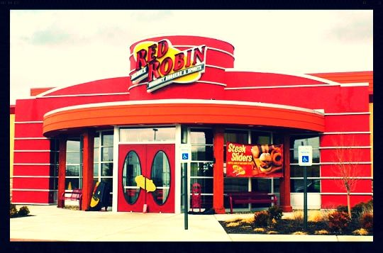 Red Robin. Been going here forever... Locations in Dublin and Newark. Good food, and inexpensive. I love the 1950's decor too.