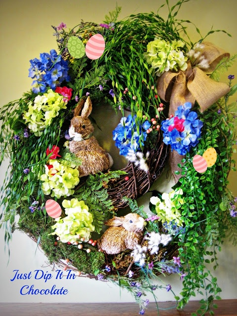 http://justdipitinchocolate.blogspot.com/2013/03/rabbit-burrow-spring-wreath.html