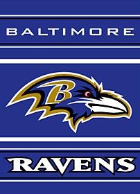 "Baltimore Ravens 28""x40"" 2-Sided Banner $28.95 http://www.mysportsdecor.com/baltimore-ravens-2-sided-banner.html #baltimoreravens #baltimoreravensbanner #baltimoreravensmerchandise"