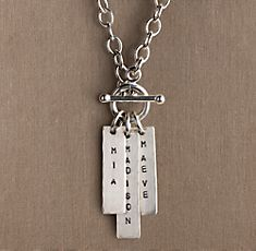 Love this sterling silver toggle necklace.  My 3 words... CREATE, STRENGTH, INTEGRITY