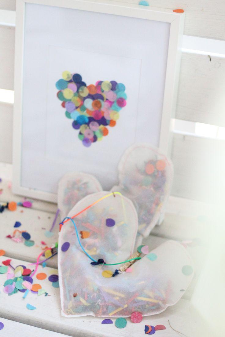 DIY: Confetti Heart Print + Pinata