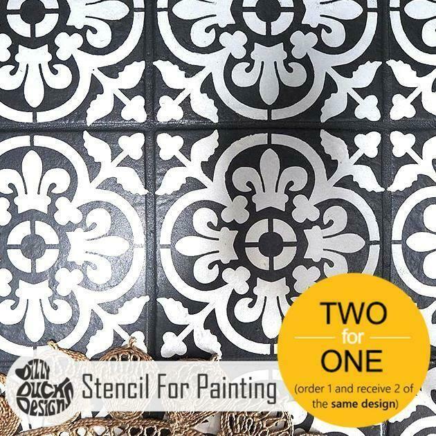 Azulejo de Valencia Mediterráneo Muebles De Pared stencil Piso Para Pintar
