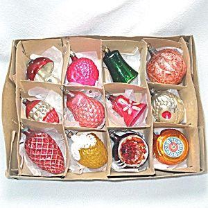 Box Antique German Small Figural Christmas Ornaments