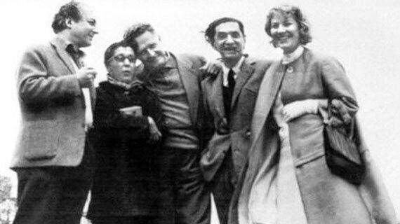 Hıfzı Topuz, Güzin Dino, Nazım Hikmet, Abidin Dino, Vera Tulyakova