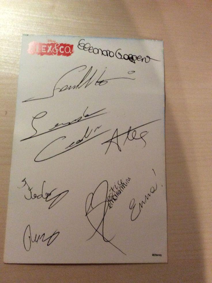 Autografo di ALEX E CO