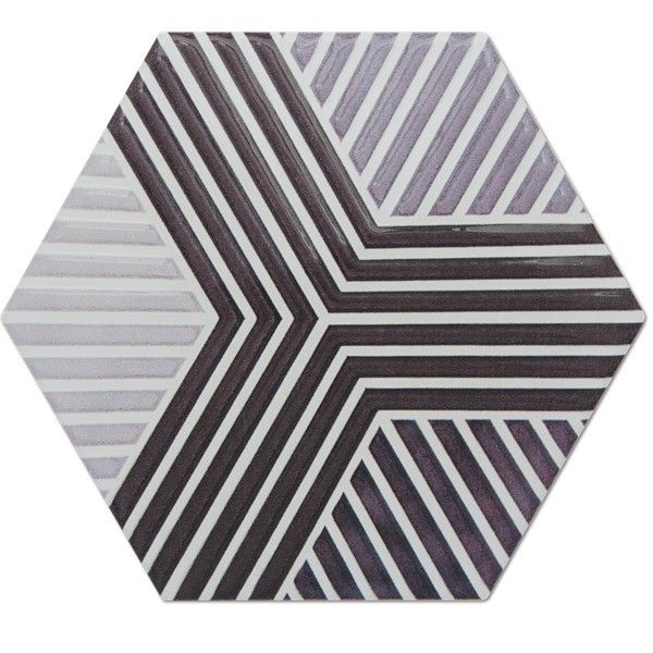 Heksagon Piramidal - płytki ścienne Dec. Piramidal Geometric Blanco 17x15