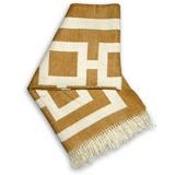 Jonathan Adler Throw Blanket Nixon Camel  #LGDreamFoyer