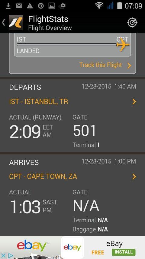 Flight from Istanbul has landed. 28 December, 1015.