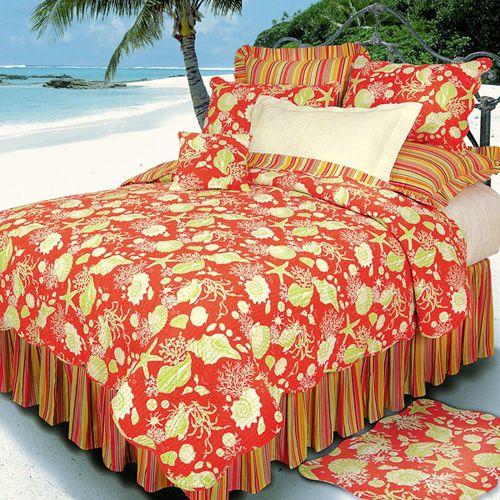 Coastal Condo Decorating Ideas: Flamingo Fun Tropical Bedding