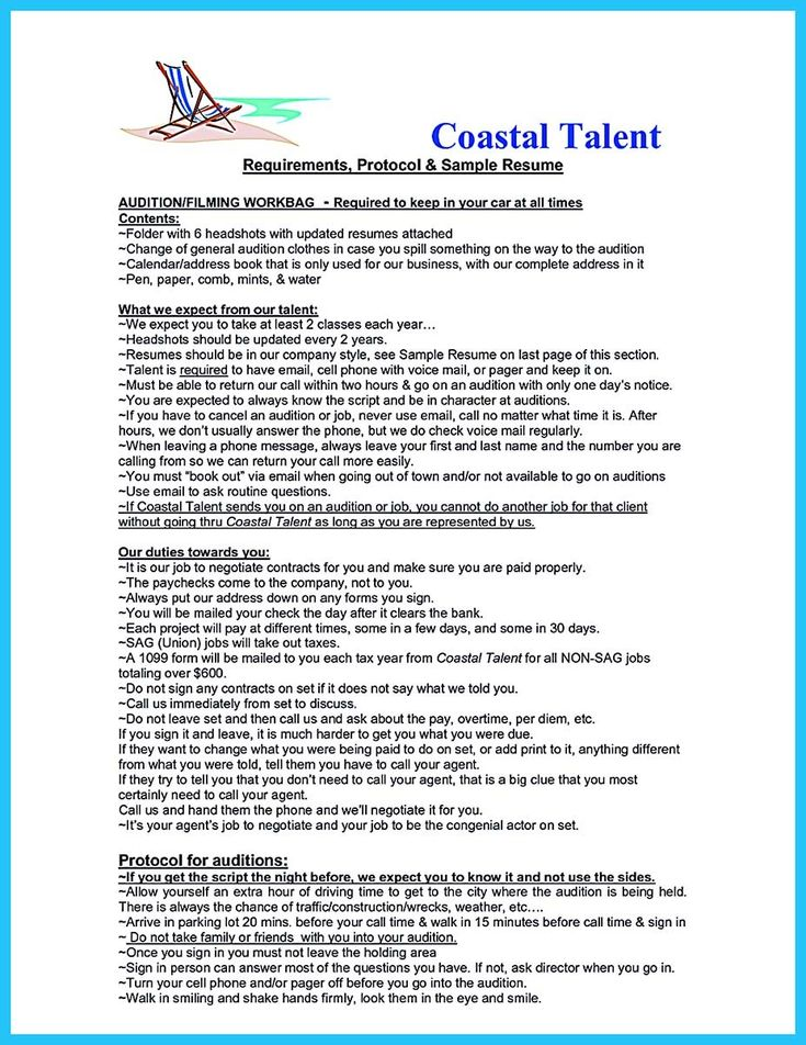 cool Learning to Write an Audition Resume, Check more at http - coastal engineer sample resume