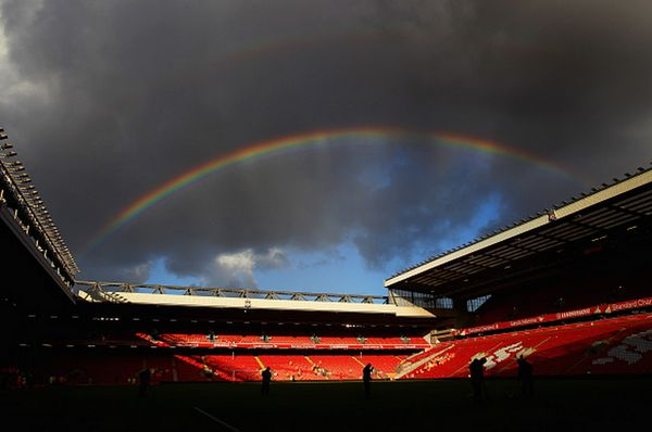 At the end of the storm, there's a golden sky... #LFC #Anfield