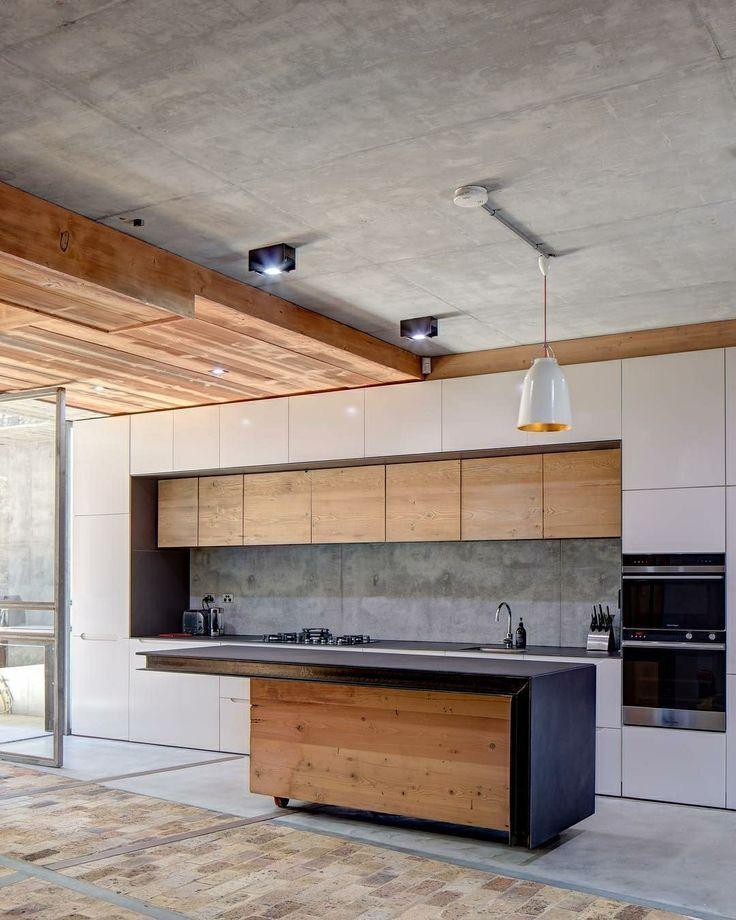 Kuchendesign In Beton Und Holz Kuchendesign Innenarchitektur Kuche Kuche Einrichten