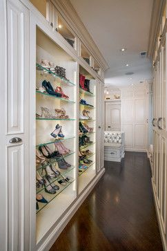 not sure about the glass shoe shelves but the rest looks great interior closet doors and the style of the doors and the bench with storage