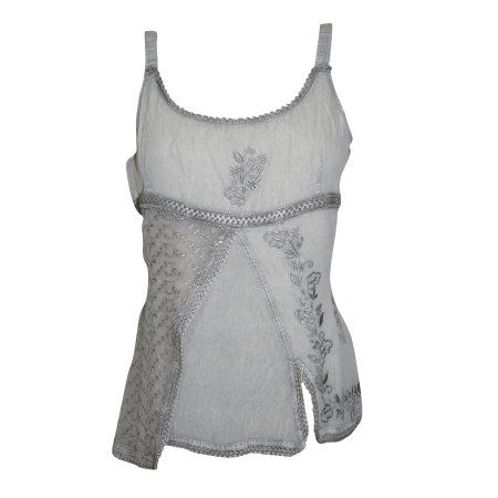Mogul Women's Tank Blouse Grey Embroidered Rayon Top For Her  https://www.walmart.com/search/?query=mogul%20interior%20blouse%20top