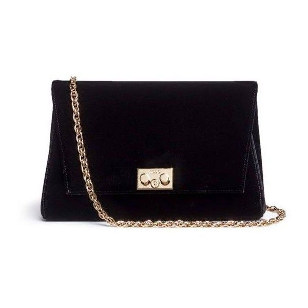 RODO Velvet clutch found on Polyvore featuring bags, handbags, clutches, velvet clutches, velvet handbag, studded clutches, rodo purse and studded handbags