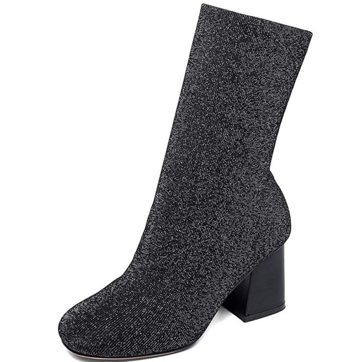 104.00$  Buy now - http://alinmh.worldwells.pw/go.php?t=32717763935 - Stretch Fabric Strange Style Synthetic Nubuck Leather Ankle boots Ladies shoes woman sapatos femininos Comfortable