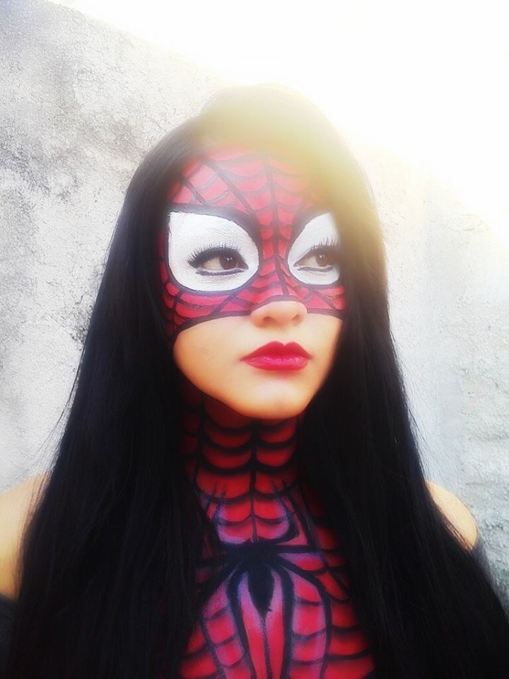 spiderman makeup by rafaela mexico! https://www.facebook.com/rafaela.maar