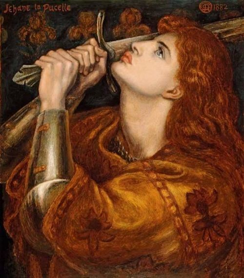 Pre Raphaelite Art: Dante Gabriel Rossetti. Juana del Arco