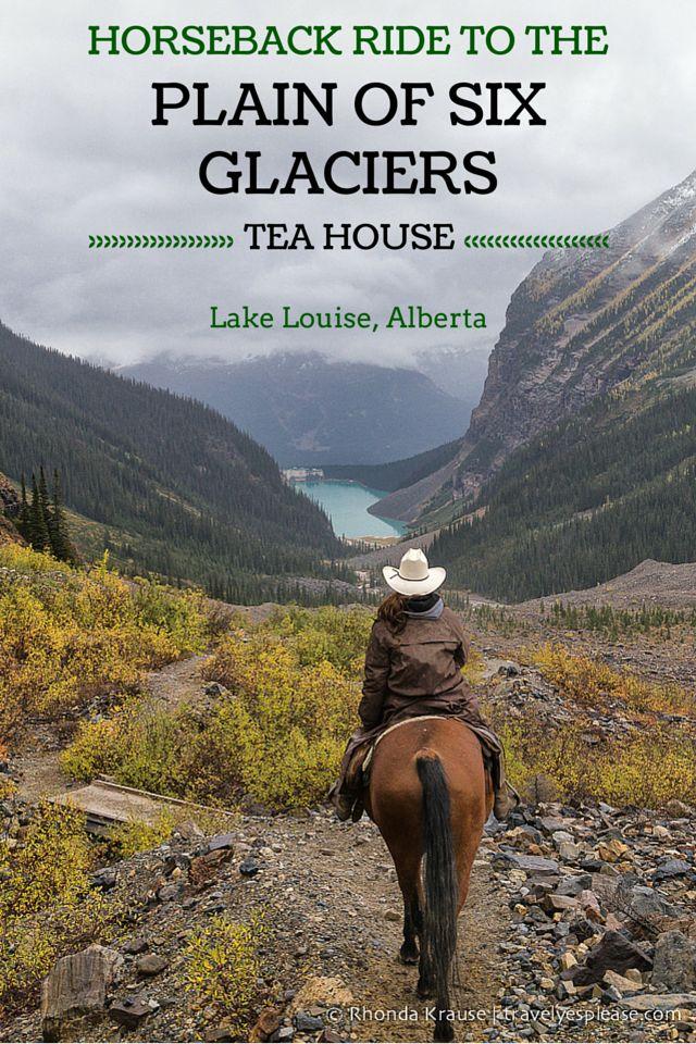 travelyesplease.com   Horseback Ride to the Plain of Six Glaciers Tea House- Lake Louise, Alberta (BLOG POST)   Lake Louise, Canada