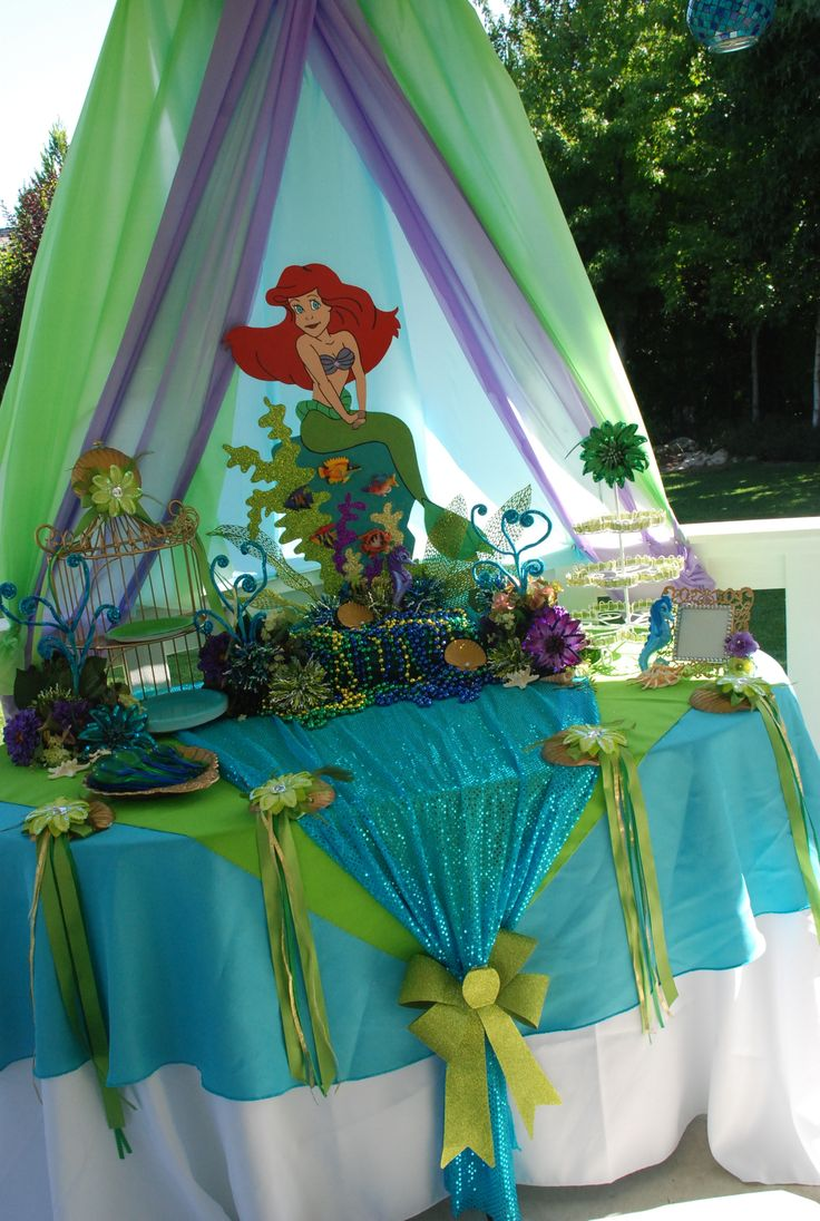 Little Mermaid Theme Cake Table Display Designed By