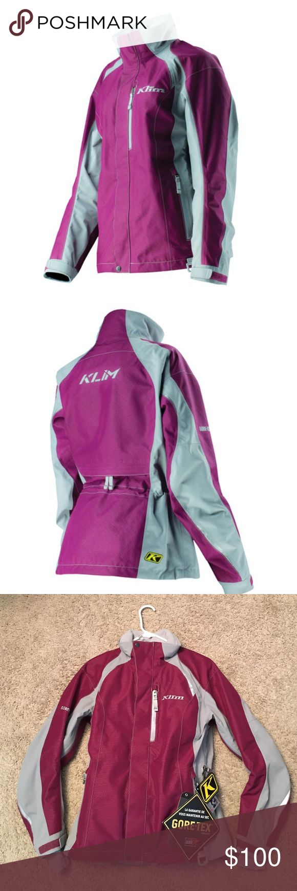 Klim alpine parka jacket NWT - women's klim alpine parka snow jacket in plum. The Alpine Parka features a unique combination of GORE-TEX® fabric technologies to deliver maximum toughness, breathability and the confidence of their GUARANTEED TO KEEP YOU DRY Promise. klim Jackets & Coats
