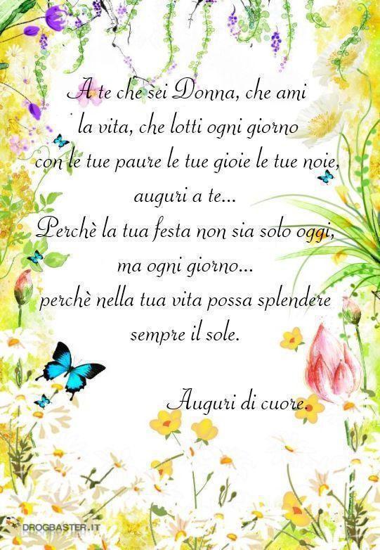 Frase Da Dedicare Per La Festa Della Donna Donne Ladies Day