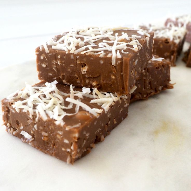 Remember buying coconut roughs from the school cake stall? Now you revisit those chocolatey playground favourites with Create Bake Make's 3-ingredient fudge.