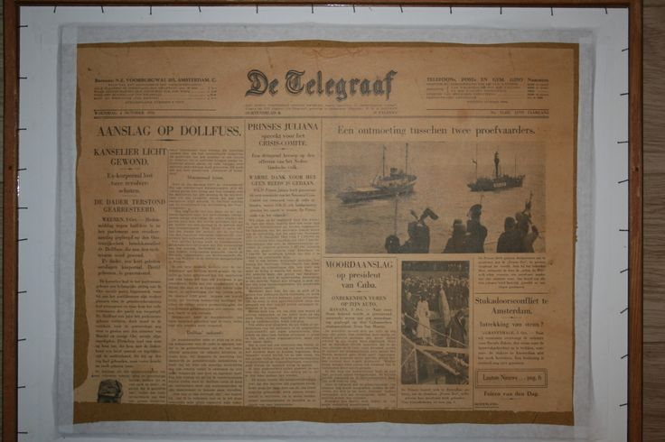 Newspaper  AW Verhorst 1933 IJssel at Kampen The Netherlands