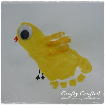 So very, very cute, too. Although painting the foot needed a little more assistance than painting the hand.