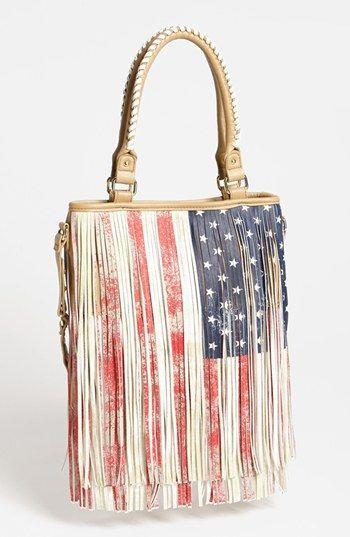 Steve Madden 'American Flag' Fringe Tote | Nordstrom